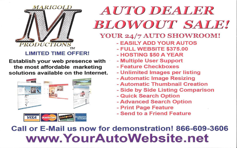 Marigold Car Dealer Website has the following features: